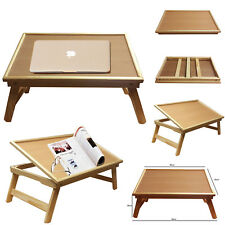 ADJUSTABLE LARGE MULTIPURPOSE WOODEN BED LAPTOP BREAKFAST TABLE LAP FOLDING TRAY