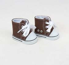 """High top Sneaker in Brown- sized for American Girl® and other 18"""" Dolls (Boy)"""