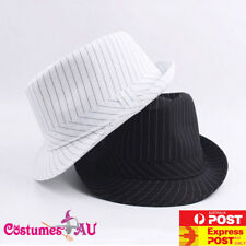 733c1a929d5 Mens 1920s 20s Gangster Hat Trilby Al Capone Gatsby Party Black White  Costume