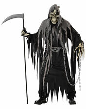 Mr Grim Reaper Deluxe Horror Skeleton Monster Death Halloween Men Costume