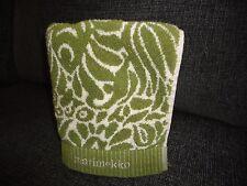 Crate & Barrel Tamara Green Olive & White Floral (1) Hand Towel 19 X 29