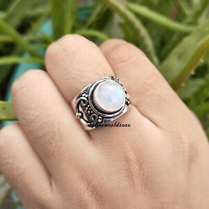 Moonstone Band Ring Beautiful Ring Handmade Jewelry Size 8.5 Ms2929
