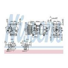 Fits Peugeot 207 1.4 Genuine OE Quality Nissens A/C Air Con Compressor
