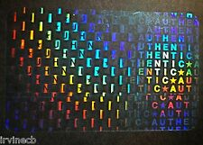 Hologram Overlays Authentic Repeat Overlay Inkjet Teslin ID Cards - Lot of 5