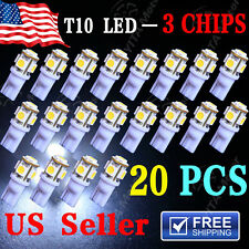 8X Deluxe White T10 & 36MM/42MM Festoon Car Interior LED Lights Bulb Package Kit