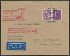 Katapultflug Dampfer Bremen 21.9.1931 Seepost nach New York (S18524)