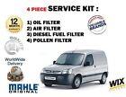PARA PEUGEOT PAREJA 1.6 HDi 2005-6/2008 Aire Aceite Gasolina Filtro De Polen