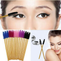 50Pcs Disposable Eyelash Brush Mascara Wands Applicator Spoolers Makeup Tool