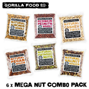 Gorilla Food Co. Mega Nut Mixed Combo Pack (Almond, Cashew, Peanuts, Pecans...)