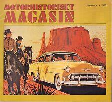 Motorhistoriskt Magasin Swedish Car Magazine #4 1986 Hudson 1946-47 031617nonDBE