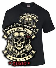 Biker T-Shirt ALTER MANN MIT EINER Z1300 Tuning Zubehör Motorrad Treffen Spruch