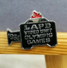 1984 LAPD VIDEO UNIT POLICE OLYMPIC GAMES PIN