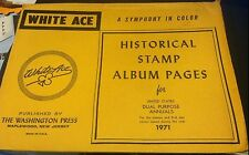 WHITE ACE Historical STAMP ALBUM PAGES United States DUAL PURPOSE ANNUALS 1971