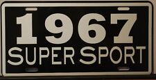METAL LICENSE PLATE 1967 67 SUPER SPORT SS CHEVY IMPALA NOVA CHEVELLE EL CAMINO