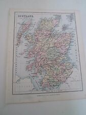 Antique Map 1890 ~ SCOTLAND - From Philips Atlas For Beginners  §5