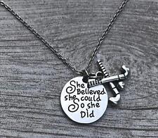 Field Hockey Necklace, Field Hockey She Believed She Could So She Did Jewelry,