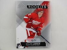 2015-16 SP GAME USED HOCKEY BASE JERSEY NUMBER ROOKIE DYLAN LARKIN #25/71