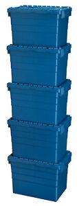 5 Stück Kunststoffkisten mit Deckel Aufbewahrungsbox in versch. Größen