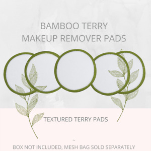 Soul Projekt Terry Reusable Bamboo Make Up Remover Pads Vegan Washable