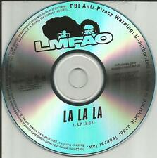 LMFAO La La la ULTRA RARE 2009 USA TST PRESS PROMO Radio DJ CD Single MINT USA