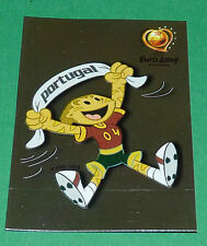 N°2 MASCOTTE BADGE PANINI FOOTBALL UEFA EURO 2004 PORTUGAL