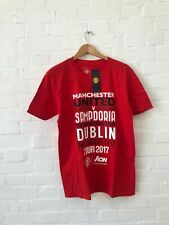 Manchester United FC Men's Logo Tour Match Up T-Shirt - Large - Red - New
