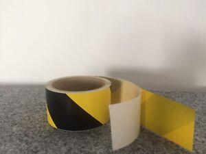 PVC Industrie Warnmarkierung Band 50 mm 11 lfm gelb schwarz selbstklebend