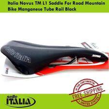 Selle Italia Novus TM L1 Saddle For Road Mountain Bike Manganese Tube Rail Black