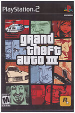 GRAND THEFT AUTO 3 (Sony PlayStation 2, 2003, Includes Instructions)