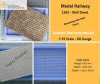 Lineside Stone walling Mould Sheet  - LS02 - OO Gauge Lineside Range