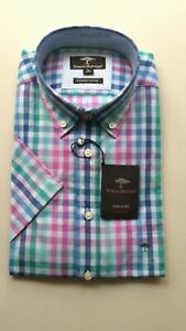 Fynch hatton Short Sleeve Cotton check Shirt Size L