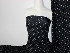Black/white Polka-dot Lycra/Spandex 4 way stretch Matt Finish Fabric
