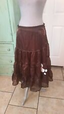 New Directions, Brown Metallic, Flared Poodle Skirt, Size Medium
