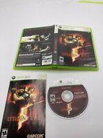 Microsoft Xbox 360 CIB Complete Tested Resident Evil 5
