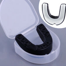 Double Teeth Protector Mouth Guard Gum Shield & case for Gym Boxing Rugby Hockey