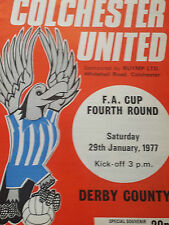 Colchester United v Derby County, FA Cup 1976-77
