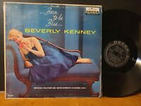 BEVERLY KENNEY - BORN TO BE BLUE 1959 Original Mono Vinyl LP!