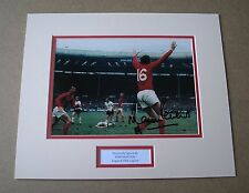 MARTIN PETERS England 1966 HAND SIGNED Autograph Photo Mount + COA West Ham Utd