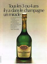 PUBLICITE ADVERTISING  1972   TAITTINGER   champagne  LES COMTES DE CHAMPAGNE