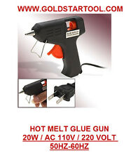 Top Electric Tool Hot Melt Glue Gun 20 WATTS  Mini Black Heating Brand USA SALE