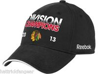 Chicago Blackhawks 2013 NHL Division Champions Stretch Fit Hockey Cap Hat