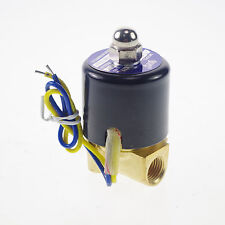 "12VDC 1/4"" BSPP NC Methane Gas Fuel Propane 2 Ways Solenoid Valve Connection CE"