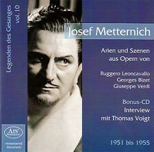 JOSEF METTERNICH - LEGENDEN DES GESANGS 10 / 2 CD-BOX - NEW