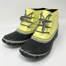 Sorel Rain Boot 7 Yellow Out N About Zest Dove Womens New in Box #NL2511-731