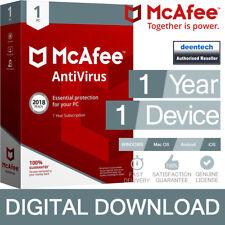 McAfee Antivirus Plus 2018 (1PC/1Year) Genuine Authentic License Windows