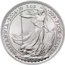 2014 ~ UNITED  KINGDOM ~ 1~OUNCE ~ FINE  SILVER ~ BRITANNIA ~HORSE PRIVY~ $28.88