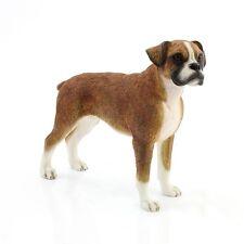 More details for leonardo dog studies brown boxer dog ornament lp29049 boxed new gift
