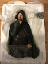 Strider Aragorn Bust LOTR Lord Of The Rings statue includes Silver Ring *RARE*