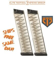 TWO ETS Elite Tactical Systems 9-Round Magazines for Glock 43 9MM Luger GLK-43-9