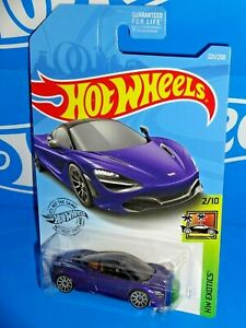 Hot Wheels 2019 HW Exotics Series #221 McLaren 720S Purple w/ 10SPs